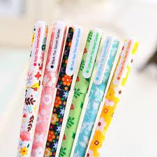 <b>6 pcs</b>/<b>set Cute</b> Gel Pens 0.38mm Colored Ink Roller Pen <b>Kawaii</b> ...
