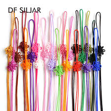 19colors <b>20pcs</b>/lot Terylene Cord <b>Chinese Knot</b> Art KeyChain ...