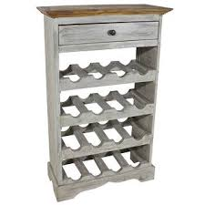 "Shop vidaXL <b>Wine Rack Solid Reclaimed</b> Wood 21.7""x9.1""x33.5 ..."