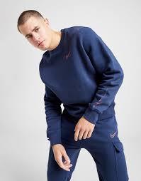 Buy Blue Nike <b>Grid Crew</b> Sweatshirt | JD <b>Sports</b> | JD <b>Sports</b> Ireland