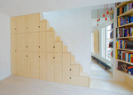 staircase made of cupboards by schemaa bespoke furniture space saving furniture wooden