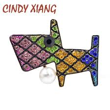 <b>CINDY XIANG New Design</b> Colorful Dog Brooches for Women ...
