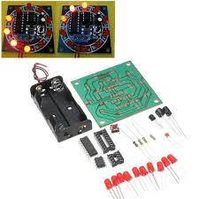 Electronic Power <b>DIY Kit</b> 10 <b>LED Flash</b> Light Wheel of Fortune Game ...