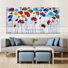 Modern abstract colorful tree flower oil painting <b>Hand painted</b> ...