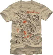 <b>Game of Thrones</b> - <b>Westeros</b> Map - T-Shirt i 2020 (med billeder)
