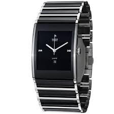 diamond men s watches shop the best deals for 2017 rado men s r20852702 integral black diamond dial black ceramic automatic watch