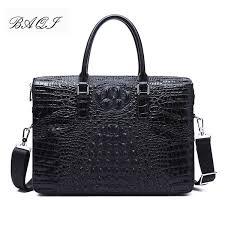 <b>BAQI Men Briefcase Bag</b> Handbags Crocodile Pattern Cow <b>Leather</b> ...