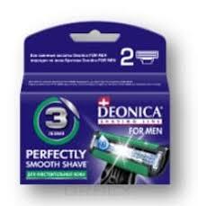 <b>Deonica</b> Сменные <b>кассеты</b> для бритья FOR <b>MEN</b> 3 лезвия, 2 шт ...