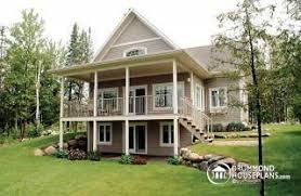 Sloping and Hillside Designs from DrummondHousePlans comVistas Very affordable Charming Cottage    large covered deck  open floor plan concept