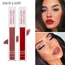 <b>SACE LADY Matte</b> Lipstick Makeup 23 Color Long Lasting Liquid ...