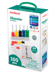 Обучающий <b>набор Miniland</b> Abacolor Shapes (100 элементов) в ...