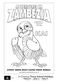 Zambezia coloring pages to print
