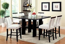image espresso finish pc contemporary pub dining iv contemporary black counter height dining set finish