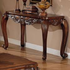 victoria brown wood console table  stealasofa furniture outlet