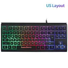 Rainbow LED Backlit 87 Keys Gaming Keyboard ... - Amazon.com