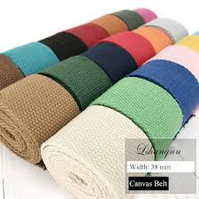 <b>New 10 Meters 38mm</b> polyester/cotton Ribbon Canvas Webbing ...