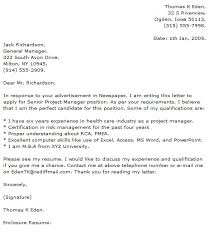 project manager cover letter examplesproject manager cover letters