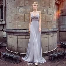 <b>Sexy</b> Grey Evening <b>Dresses</b> 2018 Empire Spaghetti Straps ...
