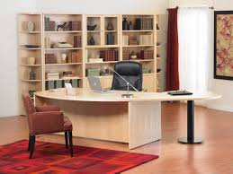 modern ideas cool office tables minimalist home office with white desk and red rug and leather awesome office interior design idea