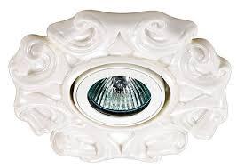 <b>Встраиваемый светильник Novotech Farfor</b> 370040, белый ...