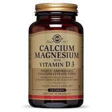 <b>Calcium Magnesium with Vitamin</b> D3 Tablets - Solgar