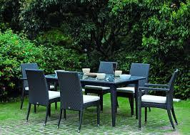 six seater rattan dining set outdoor weatherproof rattan garden furniture china outdoor rattan garden