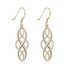 <b>PTE S925 Sterling Silver</b> 2 Color Electroplating Simple Twisted ...