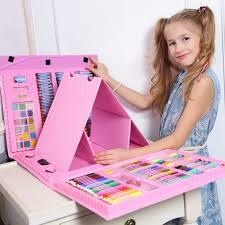 <b>Художественный набор</b> для рисования 176 предметов (розовый ...
