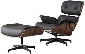 DERCASS Full <b>Genuine Leather</b> Mid Century Style Recliner <b>Lounge</b> ...
