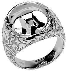Эстет <b>Кольцо коллекции Totem</b> Fox/Лиса из серебра 01К058387 ...