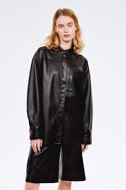 <b>Рубашка</b> из экокожи черный цвет - <b>Рубашки</b> и блузки <b>LIME</b>
