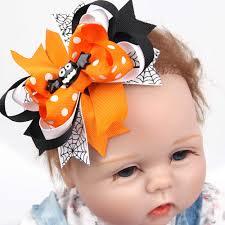 <b>1PCS</b> Boutique <b>Halloween</b> Punk Hair Bow with Clips Hair Pumpkin ...
