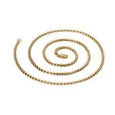 Fashion Men's 3mm*<b>55cm</b> 14K <b>Gold</b> Plated Stainless Steel Box Link ...