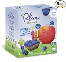 Plum <b>Organics Mashups</b>, <b>Organic</b> Kids <b>Applesauce</b>, Blueberry ...