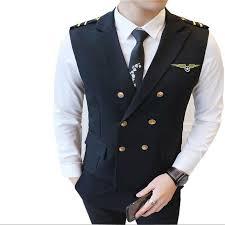 M 5XL <b>2019 New</b> Double breasted <b>Korean</b> Slim Men's Suit Vest ...