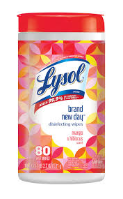 Lysol <b>Brand New</b> Day Disinfecting Wipes, Mango & Hibiscus, <b>80ct</b> ...