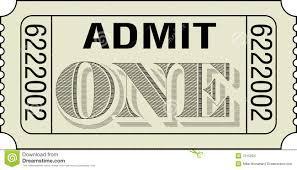 admit one words ticket cinema theatre concert admission entry ac it