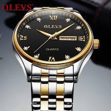 <b>OLEVS Luxury Brand</b> Watch Display Date Week <b>Men's</b> Quartz Watch ...
