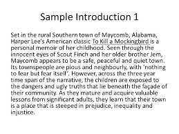 to kill a mockingbird exemplar paragraphs essay writing an  sample introduction  set in the rural southern town of maycomb alabama harper lees