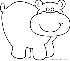 Small Picture Cartoon Hippo Coloring PagesHippoPrintable Coloring Pages Free