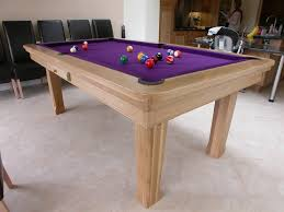 Combination Pool Table Dining Room Table Pool Dining Tables With Beautiful Purple Cushion Color And Simple
