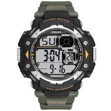 Mens Digital Watches SMAEL Brand LED Men Watch Big Dial Alarm ...