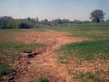 soil erosion   wikipediatilled farmland such as this is very susceptible to erosion from rainfall  due to the destruction of vegetative cover and the loosening of the soil during