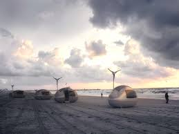 new mexico home decor: tiny homes archives makespace blog four ecocapsules solar and wind powered on wheels are the beach home decor