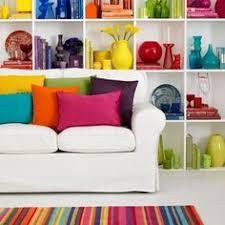 rainbow bright bright coloured furniture
