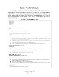 example homeroom teacher resume   sample teaching      sample