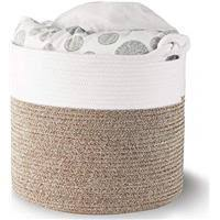 Mocka Hampton Jute <b>Pouffe</b> - White / Natural - Rewardia