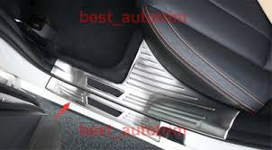 <b>Stainless Steel Outer Door</b> Sill Scuff Plate Cover Trim 4PCS For ...