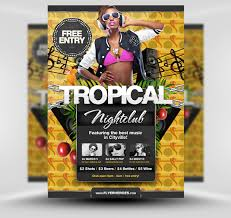 amazing flyer templates from flyerheroes com extras tropical flyer template