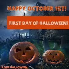 Happy October 1st   Halloween countdown, Fall halloween decor ...